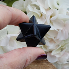 Load image into Gallery viewer, Black Obsidian Small Merkaba