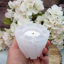 Load image into Gallery viewer, Selenite Votive Candle Holder - Flower Pot