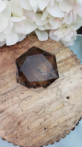"Smokey Quartz - Grade ""A"" Star of David  - Jumbo Dark 1"