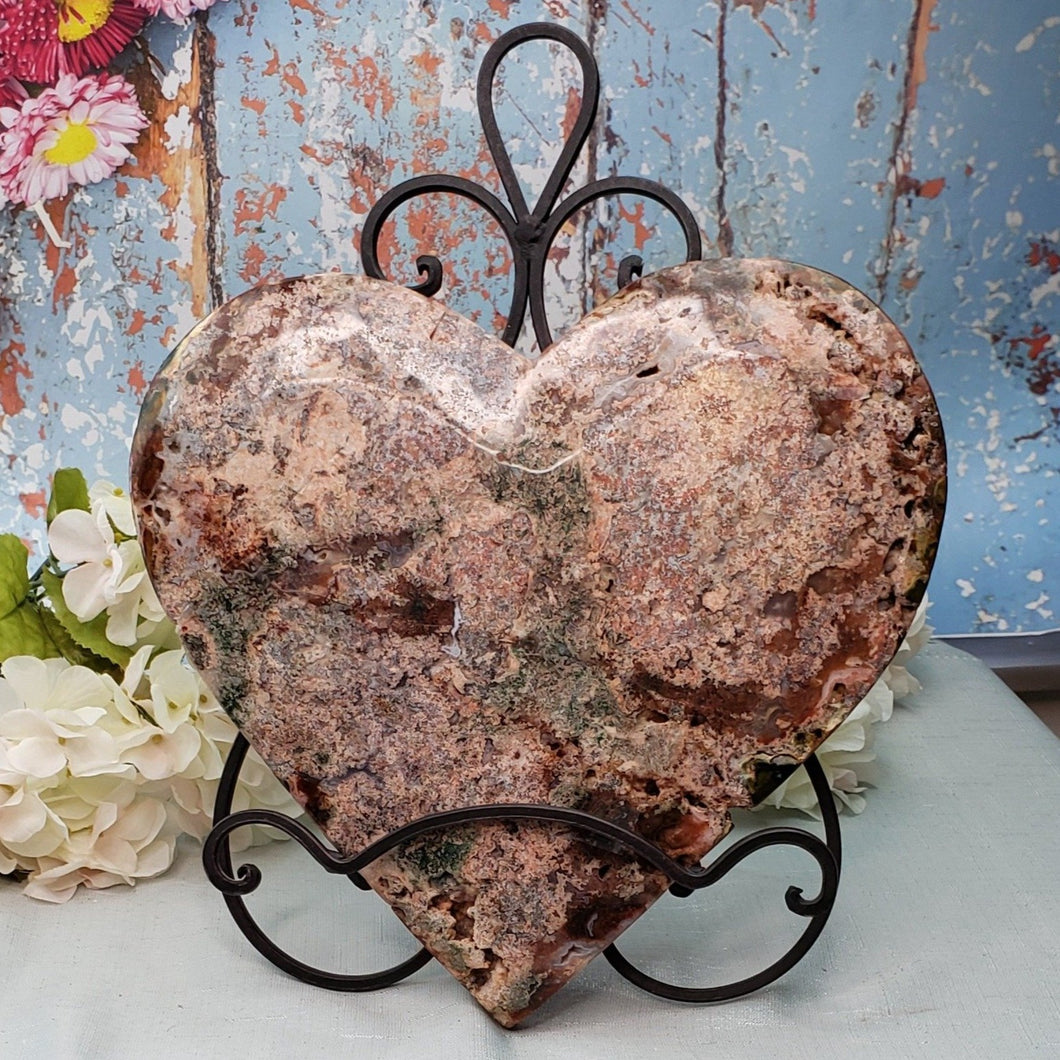 Pink Amethyst Heart - 10 - 14 inches