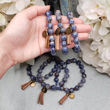 Load image into Gallery viewer, Sodalite Bracelet with  Tassel