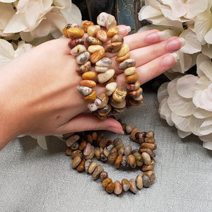Picture Jasper Nugget Stretch Bracelet