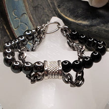 Load image into Gallery viewer, Black Onyx and Hematite Powerful Protection Bracelet