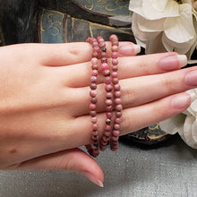 Load image into Gallery viewer, Rhodonite 4mm Stretch Bracelet