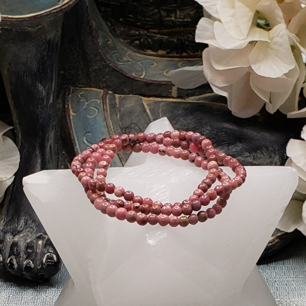 Rhodonite 4mm Stretch Bracelet