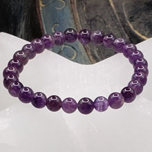 Load image into Gallery viewer, Amethyst 6mm Stretch Bracelet