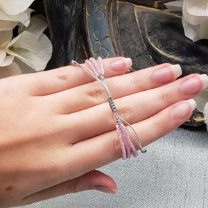 Pink Zircon Delicate Multi-strand Adjustable Bracelet