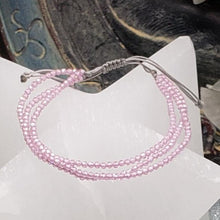 Load image into Gallery viewer, Pink Zircon Delicate Multi-strand Adjustable Bracelet