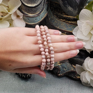 Rhodochrosite 6mm Stretch Bracelet