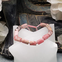 Load image into Gallery viewer, Rhodochrosite Rough Cut Adjustable Bracelet
