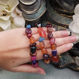 Mixed Agate Colorful Bracelet