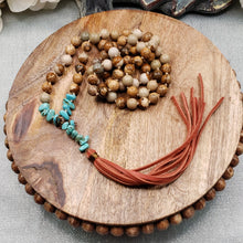 Load image into Gallery viewer, Picture Jasper with Blue Howlite Boho Necklace