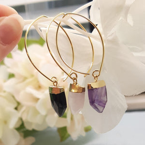 Black Agate Arrow Earrings