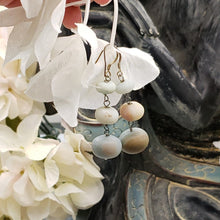 Load image into Gallery viewer, Amazonite Three Tier Drop Earrings