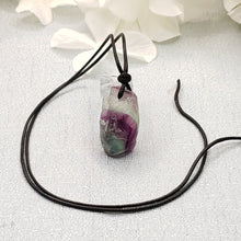Load image into Gallery viewer, Fluorite Faceted Pendant with Black Cord