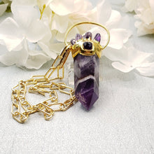 Load image into Gallery viewer, Funky Large Amethyst Point Necklace