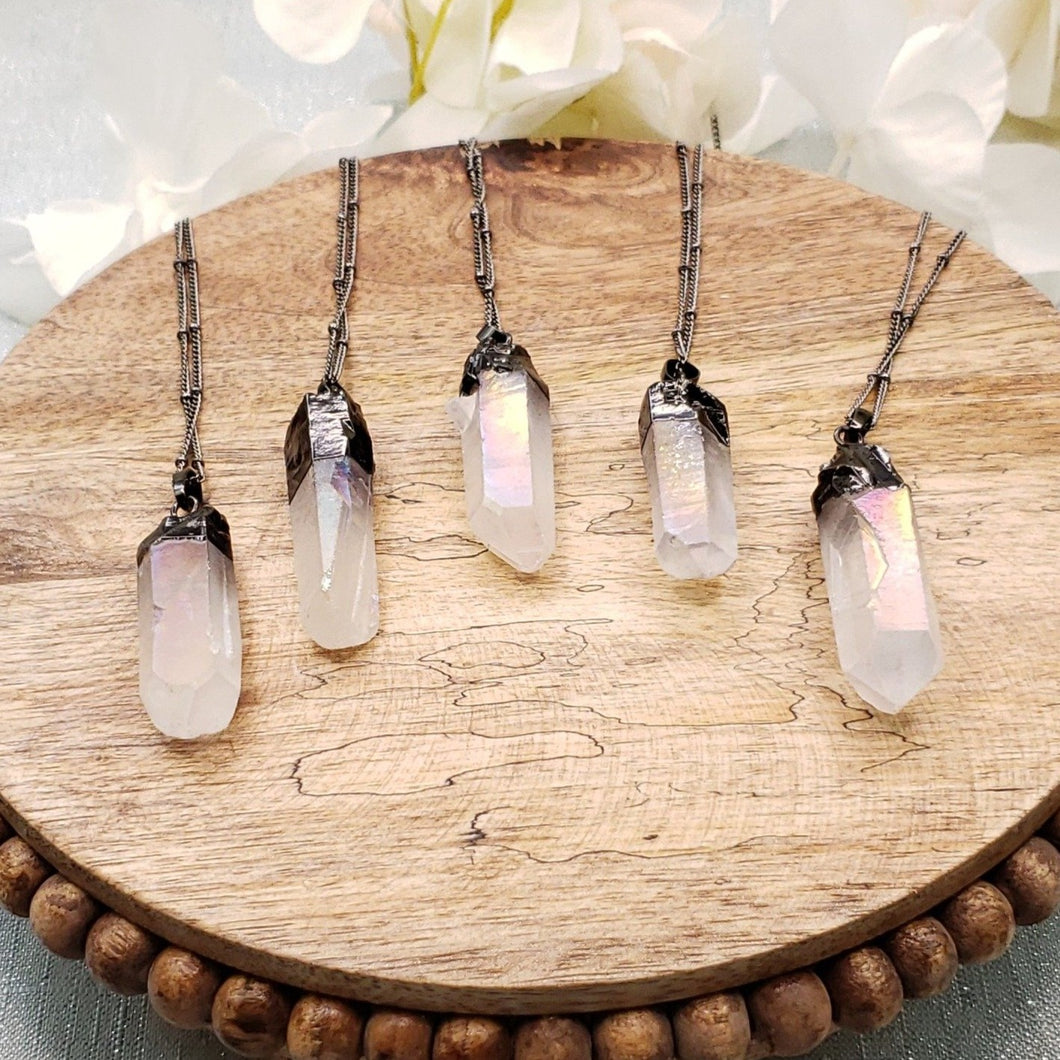 Angel Aura Quartz Necklace