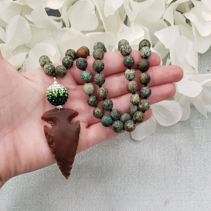 African Turquoise Beaded Necklace