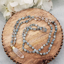 Load image into Gallery viewer, Aquamarine Crystal Necklace