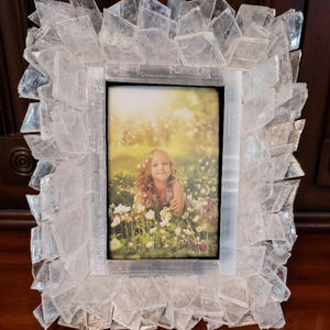 Selenite Crystal Photo Frames