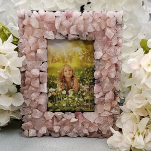 Rose Quartz Crystal Photo Frames