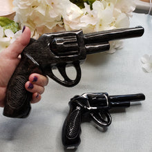 Load image into Gallery viewer, Golden Obsidian Large Revolver, Crystal Gun