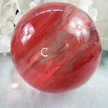 Load image into Gallery viewer, Cherry Quartz Sphere C