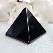 Load image into Gallery viewer, Black Obsidian Pyramid