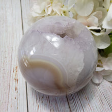 Load image into Gallery viewer, Lavender Amethyst Druzy Agate Sphere #3