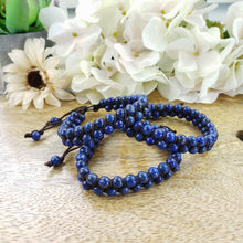 Load image into Gallery viewer, Lapis Lazuli Small Double Strand Adjustable Bracelet