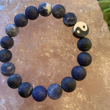 Load image into Gallery viewer, Sodalite Bracelet with Small Yin/Yang Bead- Unisex