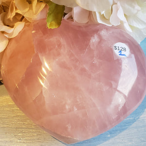 Rose Quartz Large Heart I