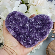 Load image into Gallery viewer, Amethyst Cluster Heart - C