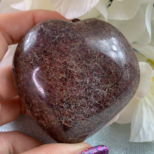 Garnet Polished Heart - 25.2