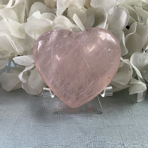 Rose Quartz Crystal Heart 19
