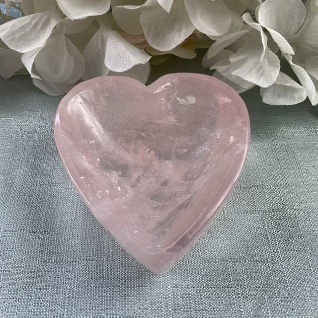 Rose Quartz Heart Bowl 22