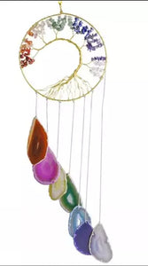 Mixed Agate Wind Chime, Tree of LIfe