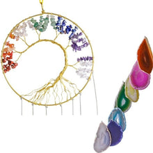 Load image into Gallery viewer, Mixed Agate Wind Chime, Tree of LIfe