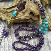 Load image into Gallery viewer, Amethyst and Sea Sediment Jasper Mala