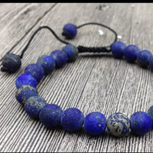 Load image into Gallery viewer, Lapis Lazuli Raw Beaded Adjustable Bracelet