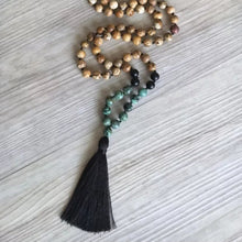 Load image into Gallery viewer, Picture Jasper Mala with Black Onyx and African Turquoise