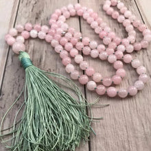 Load image into Gallery viewer, Rose Quartz 108 Bead Mala