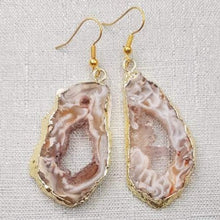 Load image into Gallery viewer, Druzy Agate Slice Earrings - 3