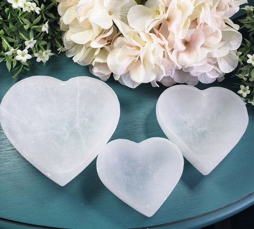 Selenite Heart Shaped Bowl - Various Sizes