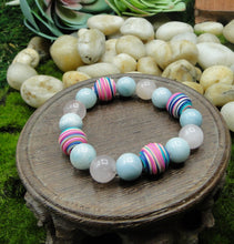 Load image into Gallery viewer, Super Fun & Soothing Bracelet, rose quartz, amazonite