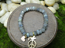 Load image into Gallery viewer, Labradorite Positive Vibes Bling Bracelet