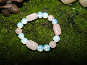 Super Fun & Soothing Rose Quartz and Opalite Bracelet