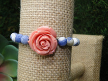 Load image into Gallery viewer, Sodalite and Rose Bracelet