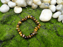 Load image into Gallery viewer, TIger's Eye Nuggets Unisex Bracelet with or with out Charm