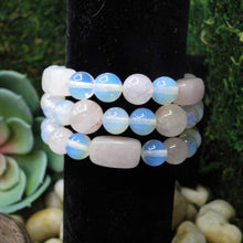 Load image into Gallery viewer, Rose Quartz and Opalite Bracelet Super Fun & Soothing